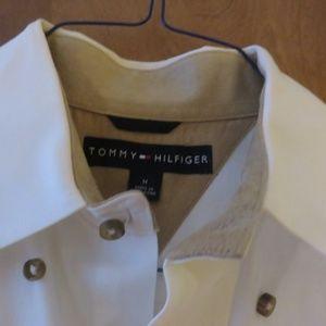 Tommy Hilfiger off white M button  down shirt euc